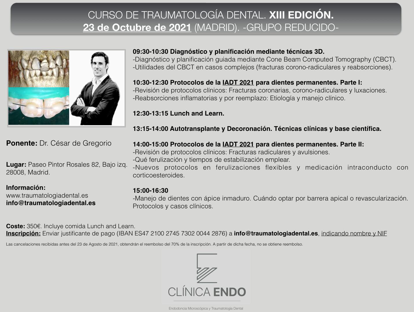 Curso Traumatologia Dental